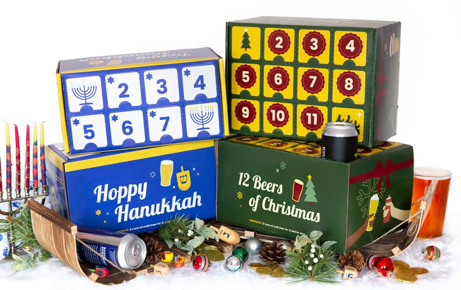 Four holiday boxes for beer
