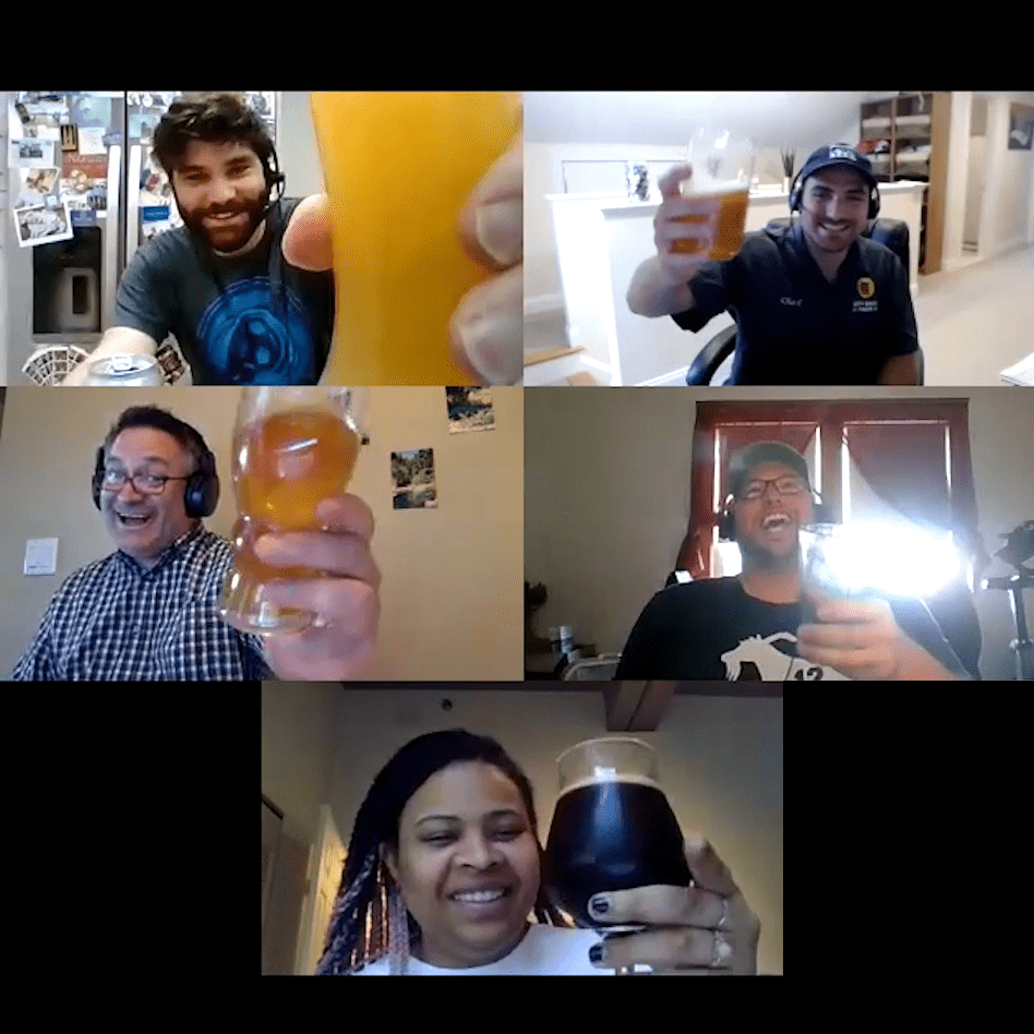 people interacting on a zoom call
