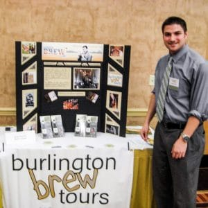Chad promotes CBT at an expo